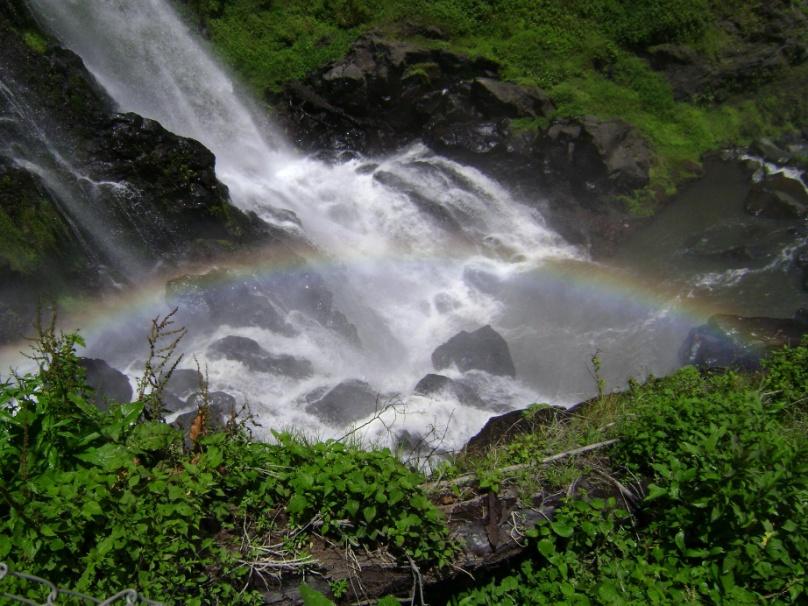Salto de Quetzalapan, uno de los lugares con aguas termales de Puebla